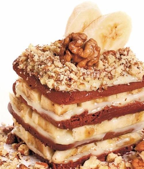 Банановое пирожное, рецепт с фото