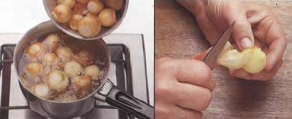 Как очистить без слез маленький лук