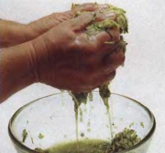 Начинка из овощей. Отжимание влаги