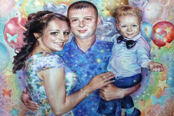 Портрет новой семьи